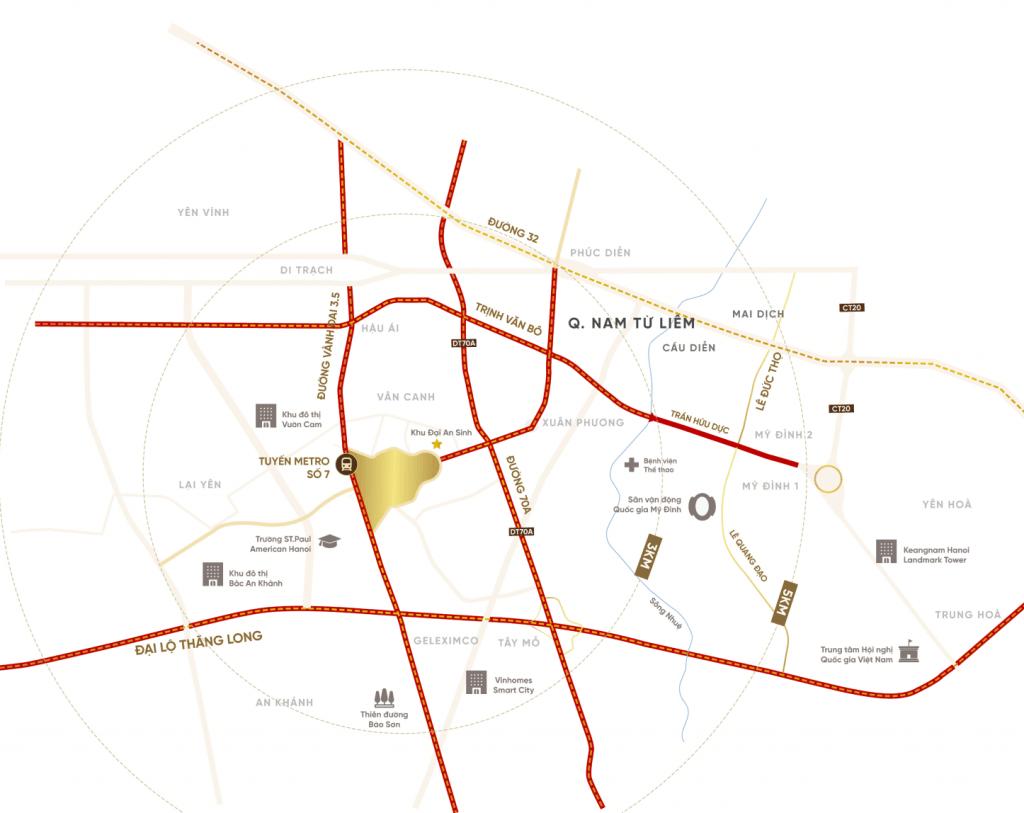 Vị trí độc tôn của khu đô thị An Lạc Green Symphony - Lý do quan trọng nhất khách hàng nên chọn đầu tư vào dự án
